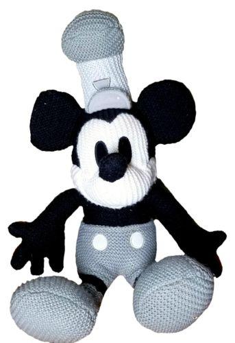 Mickey Mouse Plush Stuffed Animal Black & White 22