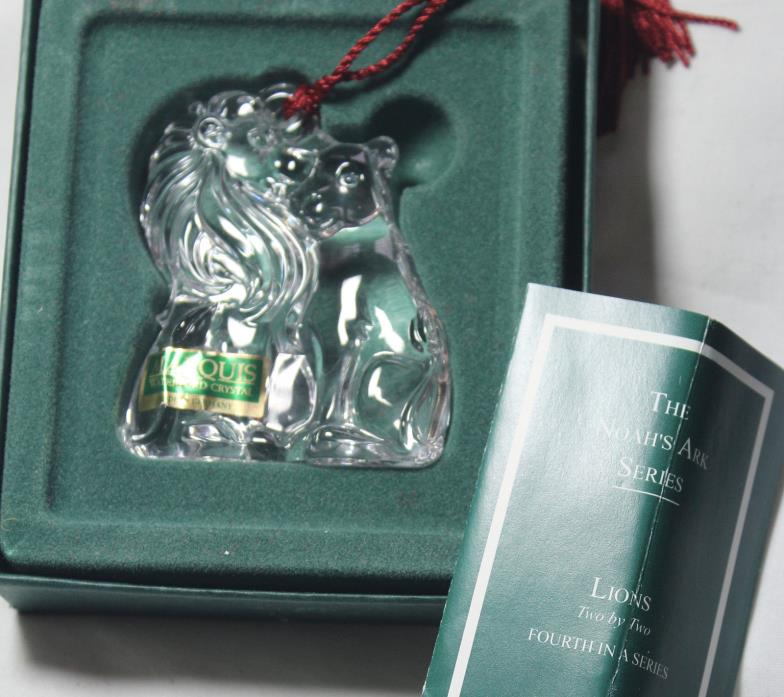 Waterford Noah's Ark LIONS Christmas ornament **NEW in BOX**, $199 Retail