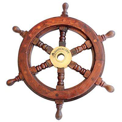 Wooden Ship Wheel 12
