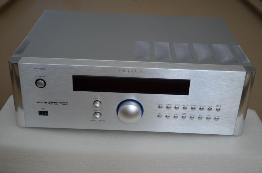 Rotel RSP-1572 7.1 Channel Pre-Amplifier, Silver, Mint/Near Mint, Free Shipping!