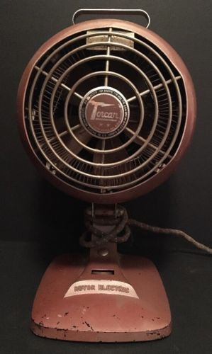 Vintage 1950's Torcan Fan Heater Unique Brown Round 12 Amps Tested