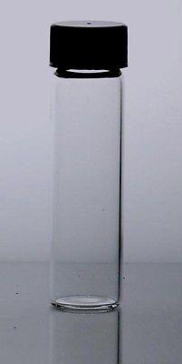 144  pcs Clear 2 Dram 1/4 oz glass vials w/ screw caps