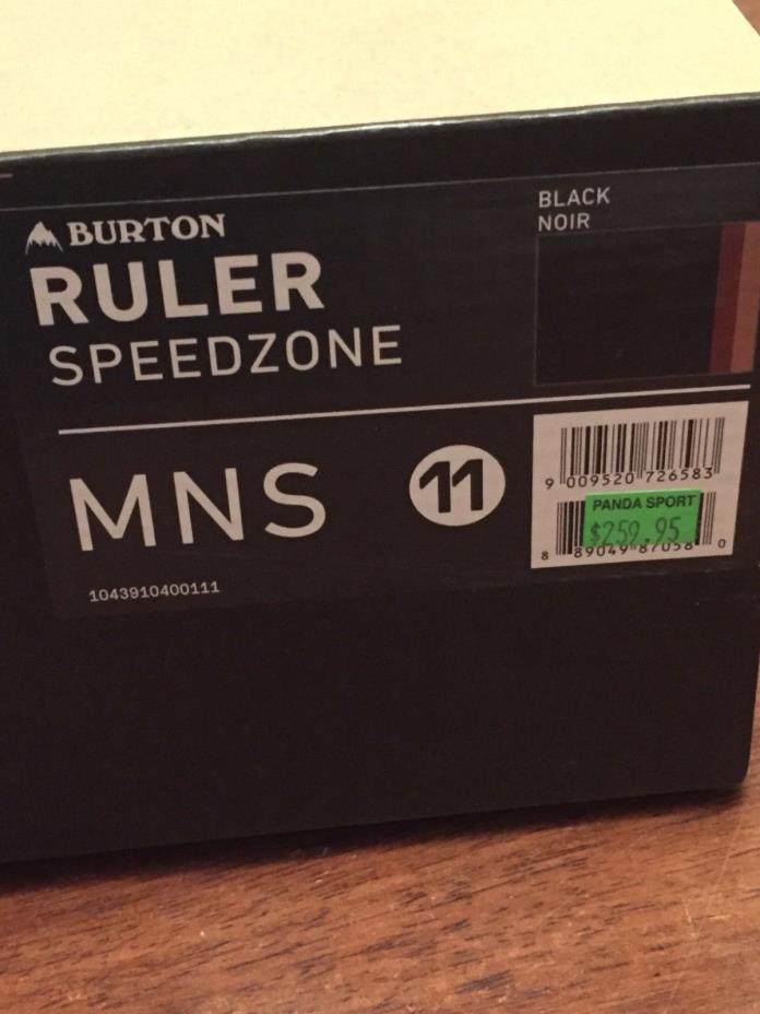 New mens snowboard boots, Burton Ruler size 11, Black and Red,