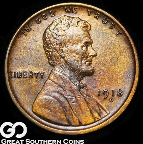 1918-D Lincoln Cent Wheat Penny, Very Nice Look