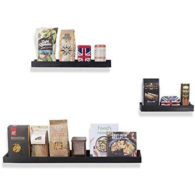 Wooden Organization Shelf Decor Wall Mounted Storage In Varying Sizes 3