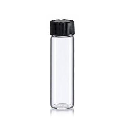 144  pcs Clear 4 Dram [15ML] glass vials w/ screw caps