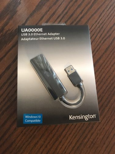 Kensington UA0000E USB 3.0 to 10/100 Fast Ethernet Electronic Accessorie NEW