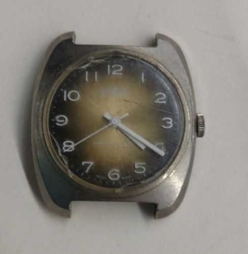 Vintage Mens EverSwiss Watch Face Swiss Made Shock Protected