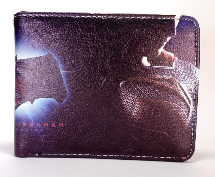 Batman v Superman bi fold wallet Dawn of Justice Superman Comic  video game mens