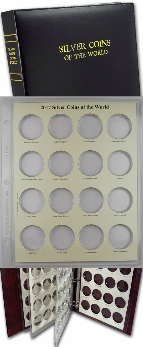 CAPS Album 2017 Silver Coins of the World Page for Airtite Coin Capsules 3001-17
