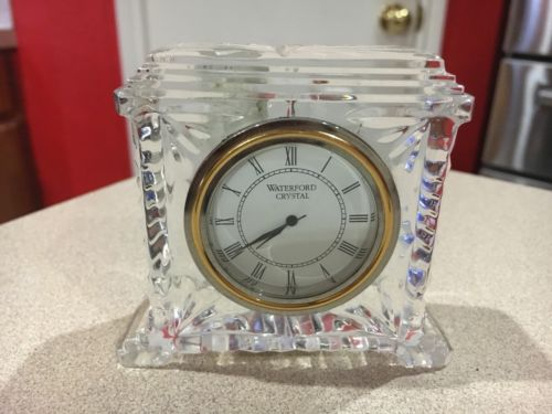 Waterford Crystal Pavillion Clock Made In Ireland