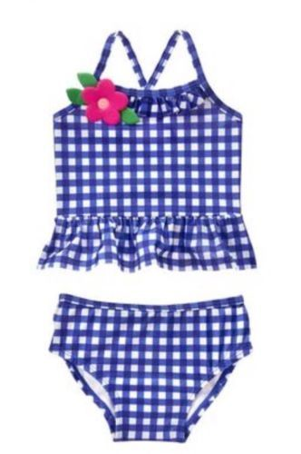 NWT Gymboree Girls Gingham Swimsuit Toddler Many sizes UPF 50+