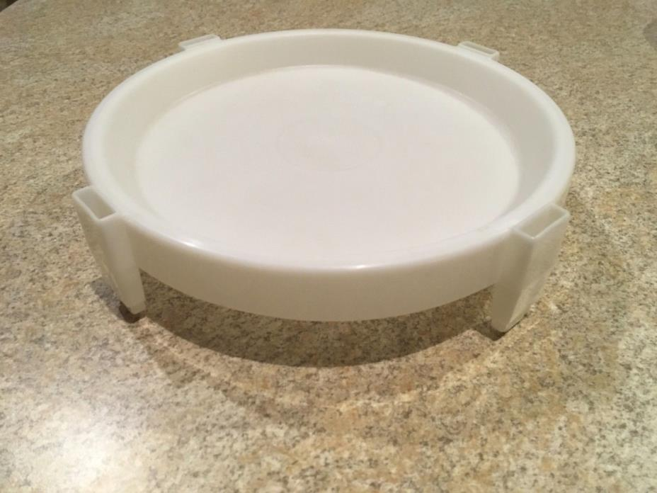 Tupperware 511 White Divid-A-Rack Pie Stacking Tray