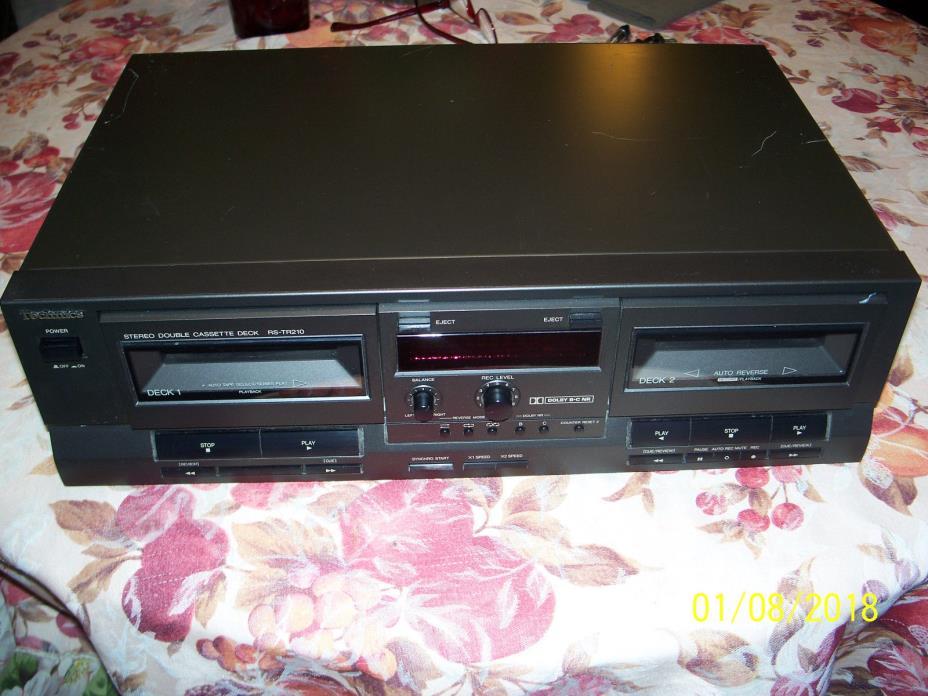 Technics RS-TR210 Dual Deck Auto-Reverse Cassette Tape Player Recorder