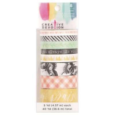 American Crafts 8 Roll Washi Tape 3 Creative Devotion