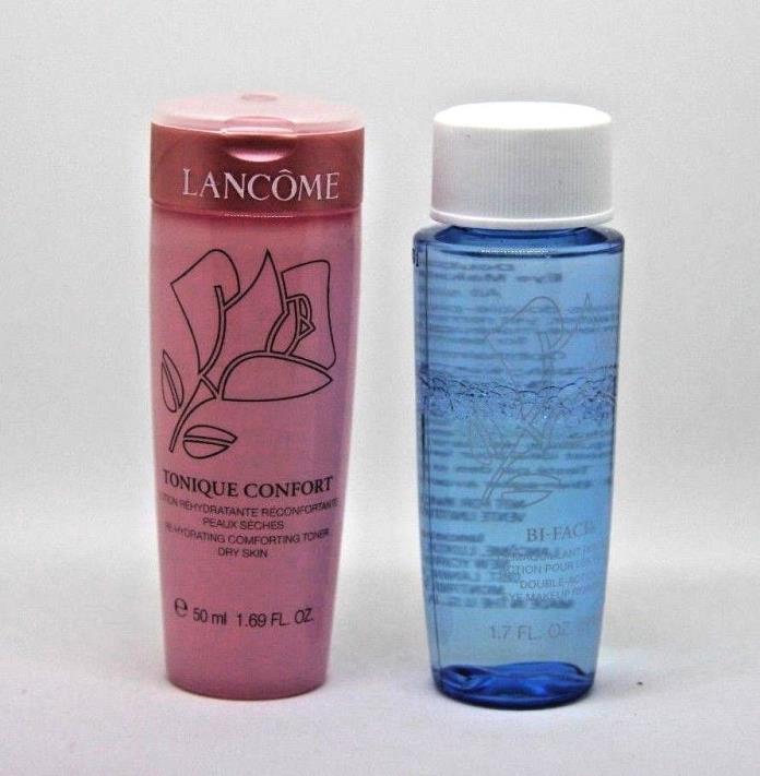 Lancome Bi-Facil  1.7oz & Tonique Confort 1.69oz Travel Size Lot NEW!