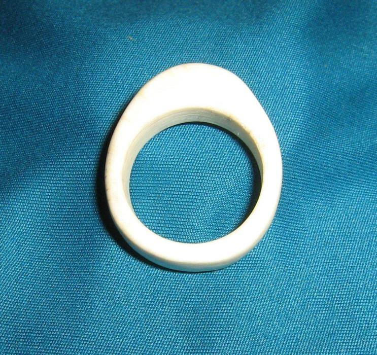 Whitetail Deer Antler Ring Hand Carved Size 10.5 Band From Shed Mens Medium size