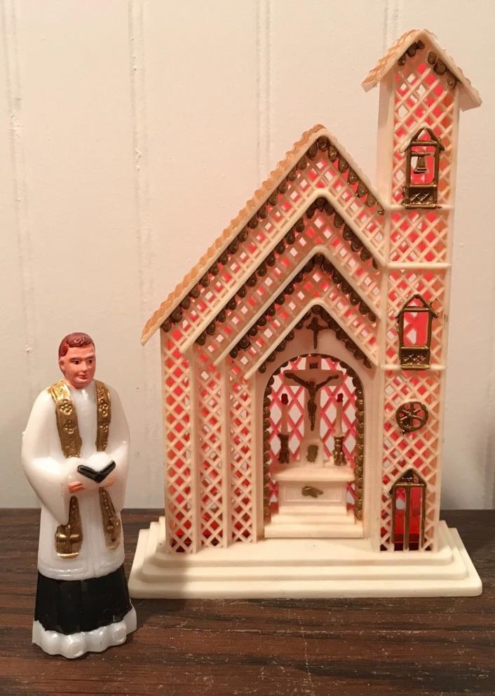 Vintage Church Priest Cake Topper Decoration