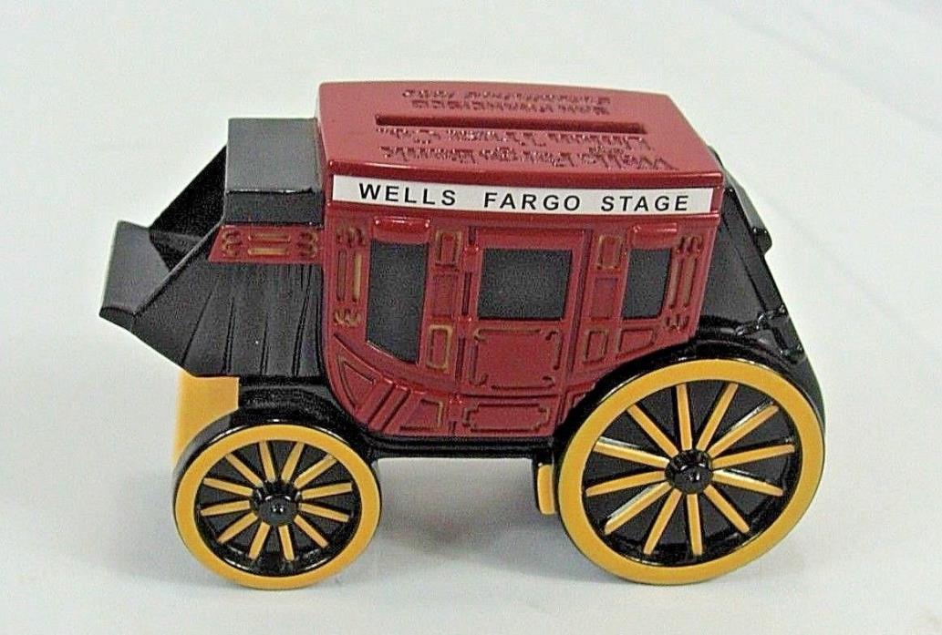 Wells Fargo Bank & Union Trust Co. Diecast Stagecoach Bank, No Keys