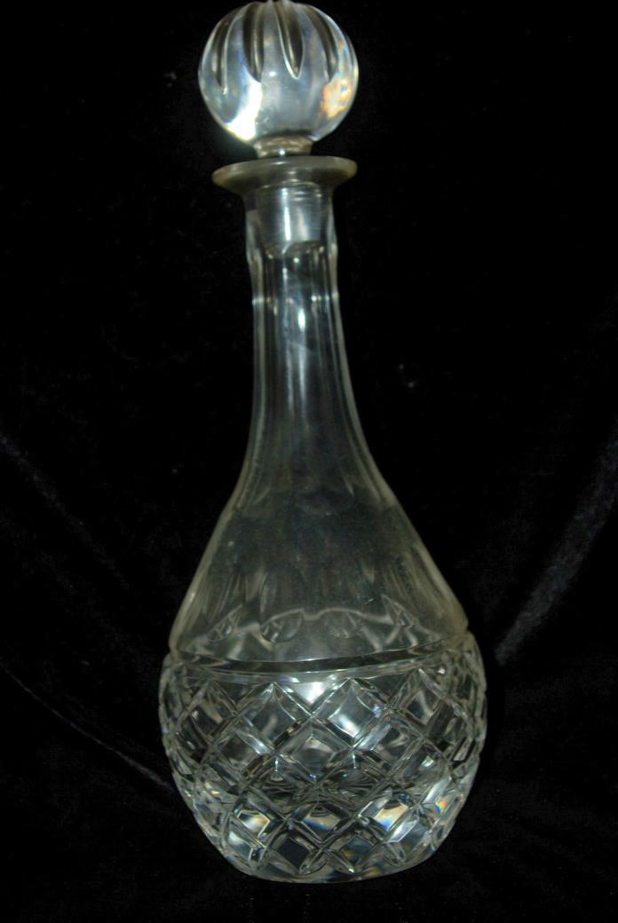Heavy Lead Crystal Cut Liquor Cocktail Decanter with Stopper.  Brandy
