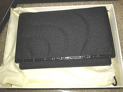 MONTBLANC Starisma Pamina Compact 5CC Wallet Fabric Black Flap Coin Case 106080