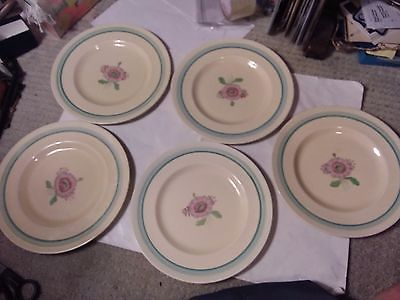 5 DISHES  - CLARICE CLIFF - 9 INCHES