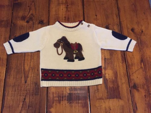 Vintage BT Kids Horse Pony Sweater Size 6/9 Months