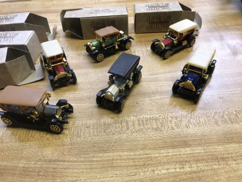 NIB Vintage 1989 Reader's Digest Collector's Classic Car Miniatures- Set of 6