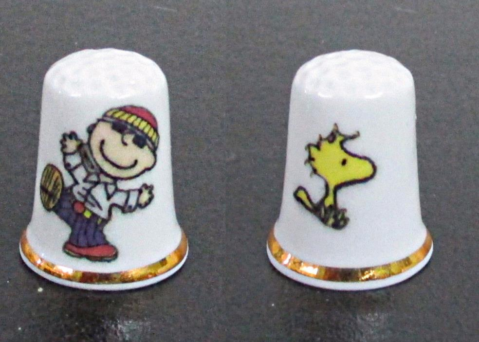 Snoopy Charlie Brown & Woodstock  Thimble Fine Bone China England