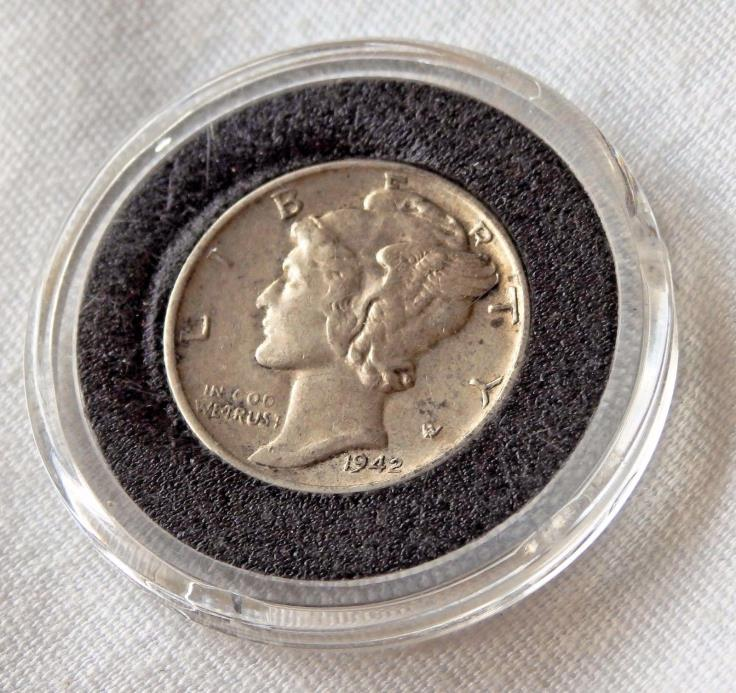 1942 Mercury Head Dime  ~ EARLY Historic Silver Coin ~ DDO? Best Offer