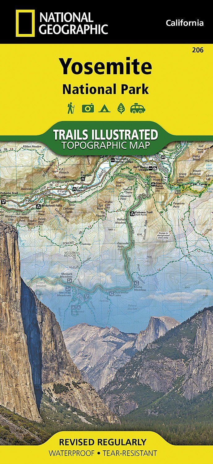 National Geographic Yosemite National Park Trails Illus Topo Map - CA - Map #206