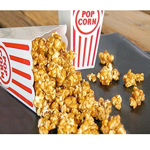 Popcorn Containers Plastic Set of 6 Reusable for Movie Time Family Fun 7 inches