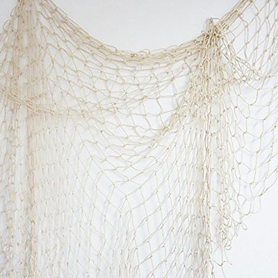 Bilipala Fishing Net Decor Wall Nautical 75 Inch Creamy White Décor Decorative