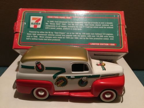 7-Eleven Collectible 1948 Ford Panel Van Coin Bank - NIB - 1998