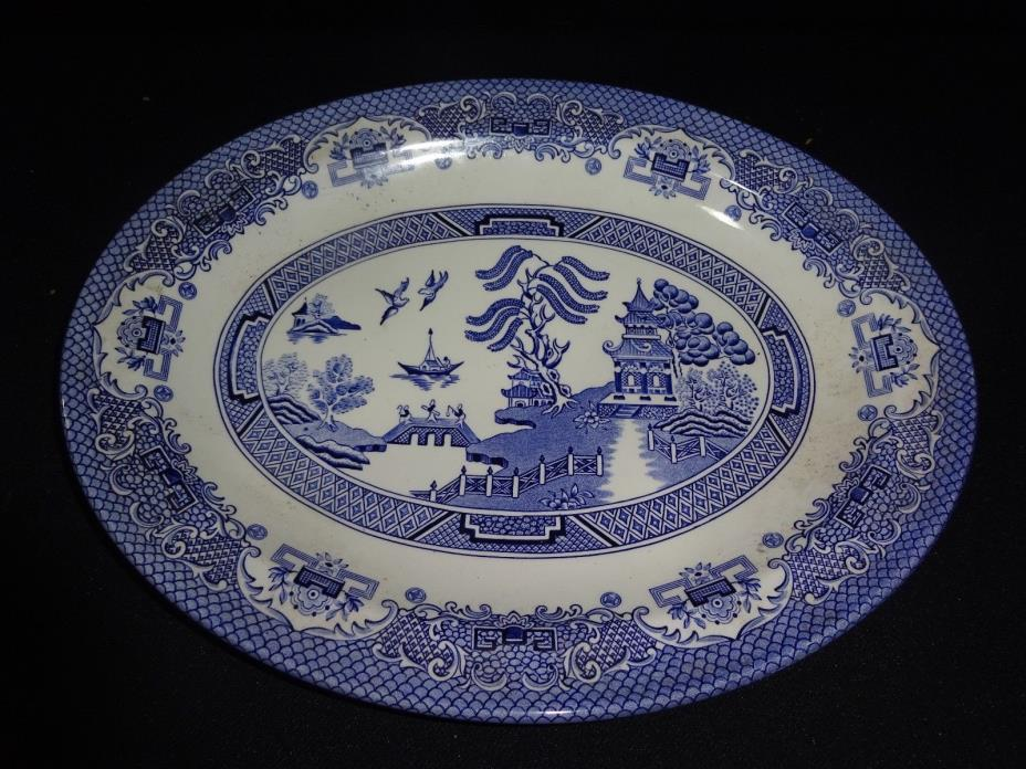 English Ironstone Oval Plate