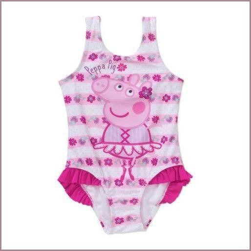 NWT 1pc Peppa Pig Ballerina Flowers Swimsuit sz 4t