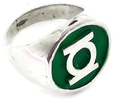 Green Lantern Justice League DC Comics Superhero Sterling Silver Men's Ring!!