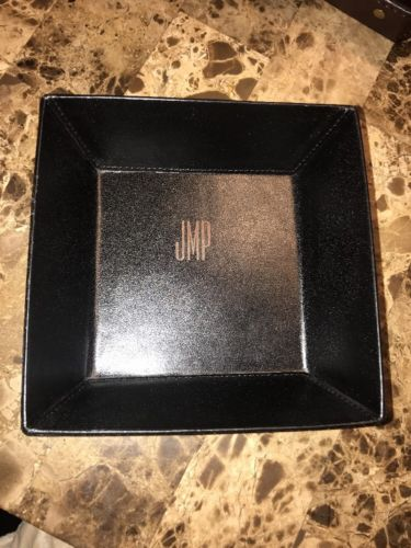 NWOT Mark & Graham / Pottery Barn Black Leather Catchall