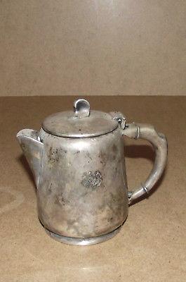 Maraboro silver plate Morton Parker EPNS 643 70 heavy tea pot creamer pitcher