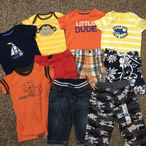 Baby Boys Size 6 6-12 Months Lot Of Summer Clothes Carters Gymboree