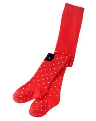 NWT Gymboree Circus Star Baby Girl Tights Red polka dot Cat Sz: 6-12 months