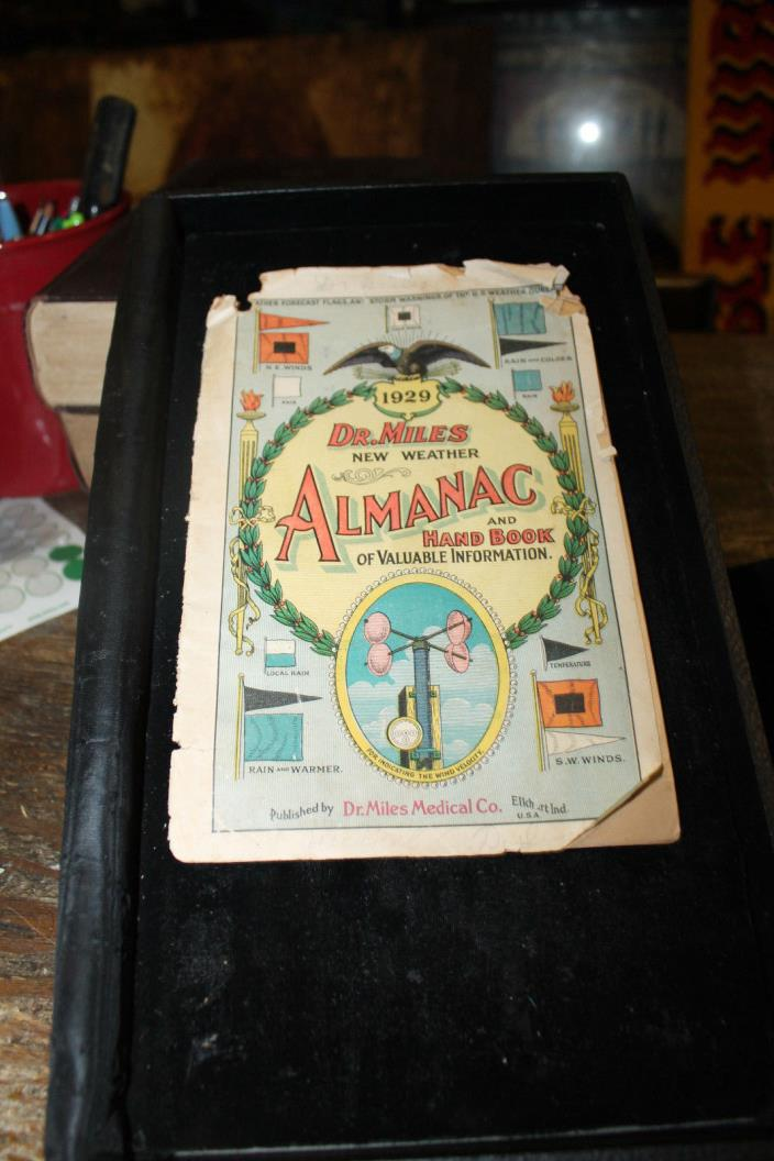 1929 Dr. Miles New Weather Almanac and Hand Book of Valuable Information