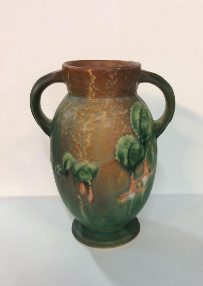 ROSEVILLE FUCHSIA VASE FORM 892 - 6  IN TERRA COTTA & GREEN