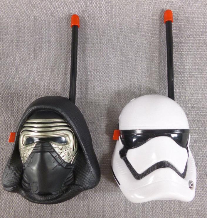 Star Wars Force Awakens First Order Walkie Talkie Set Kylo Ren Stormtrooper