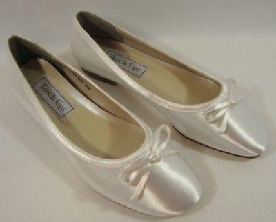 NEW Benjamin Walk Touch Ups Roslyn Flat  Bridal Dress Shoe #646W  Size: 12W