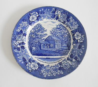 Staffordshire blue plate - Valley Forge - blue transferware