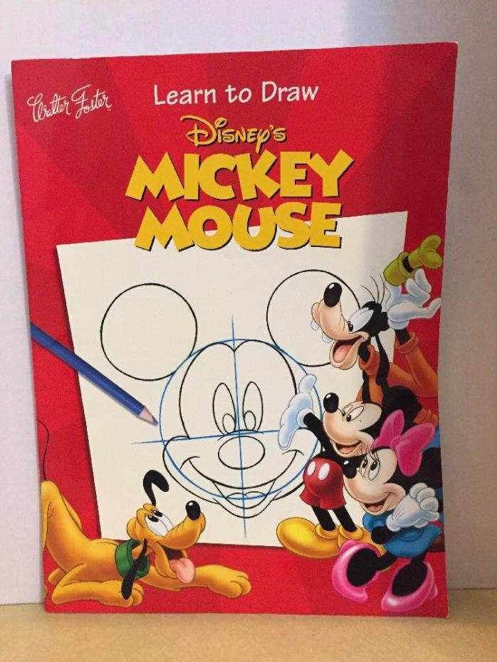 Disney's Mickey Mouse Learn to Draw Book by Illustrator Walter Foster