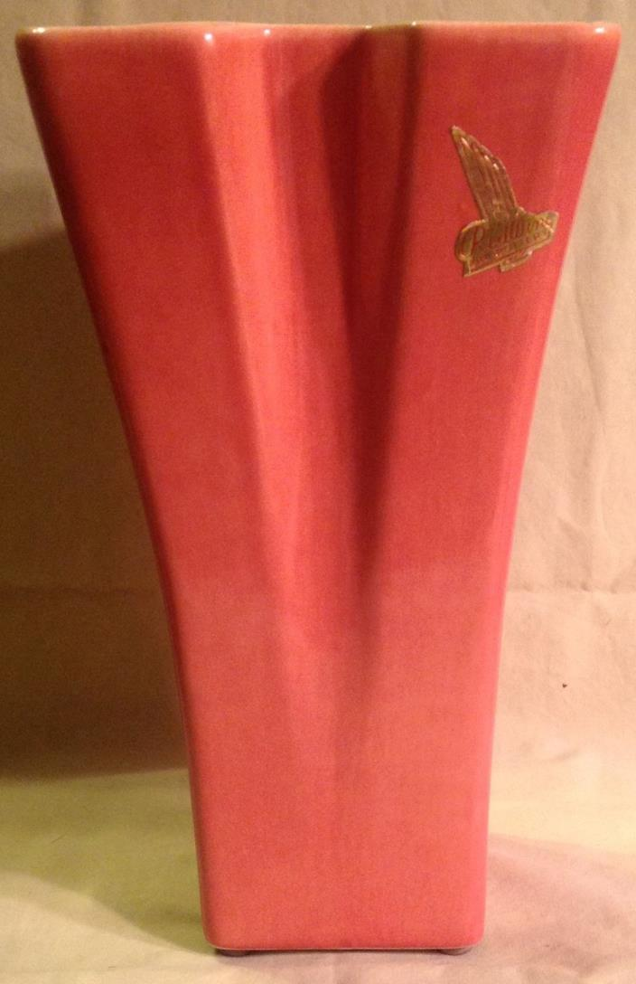 RED WING ART POTTERY VASE 1259 RETRO 1930-40's  EXCELLENT WITH ORIG STICKER