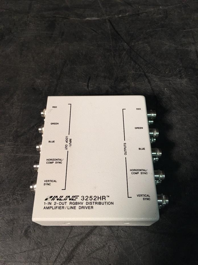 Lot 1 x Inline 3252HR 1-in 2-out RGBHV Distribution Amplifier/Line Driver