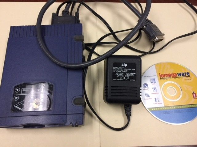 Iomega Zip 100 Zip Drive with Power Supply, Cable & Software